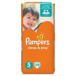Pampers Sleep & Play pelenka, Junior 5, 11-18 kg, 58 db-os