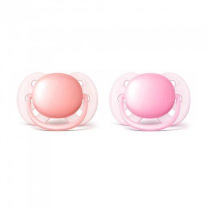 Avent SCF213/20 Ultrasoft játszócumi 0-6 hó 2 db (rózsaszín)
