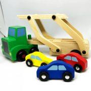 Fa autószállító 3 db kisautóval