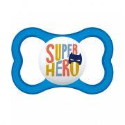 MAM Mini Air szilikon játszócumi 16 hó+ (kék-Super hero)