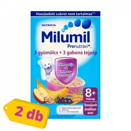 Milumil 3 gyümölcs + 3 gabona tejpép 8 hó+ (2x225 g)