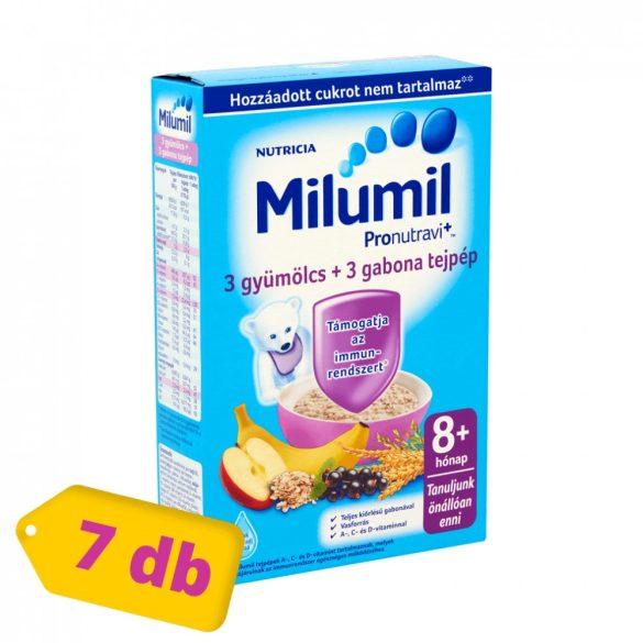 Milumil 3 gyümölcs + 3 gabona tejpép 8 hó+ (7x225 g)
