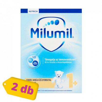 Milumil Junior 1+ vanília ízű gyerekital 12 hó+ (2x600 g)