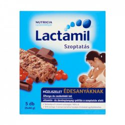 Lactamil Szoptatás áfonya és csokoládé ízű müzliszelet édesanyáknak 5 db (5x40 g)
