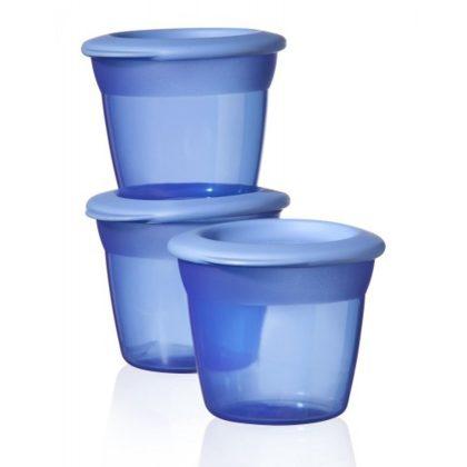 Tommee Tippee essential basic ételtároló tetővel 3 db (kék)