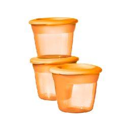 Tommee Tippee essential basic ételtároló tetővel 3 db (narancssárga)