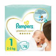 Pampers Premium Care, Újszülött 1, 2-5 kg, 78 db