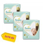 Pampers Premium Care Újszülött 1, 2-5 kg 2+1, 234 db