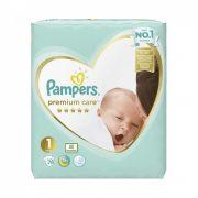 CSOMAGOLÁSSÉRÜLT - Pampers Premium Care, Újszülött 1, 2-5 kg, 78 db