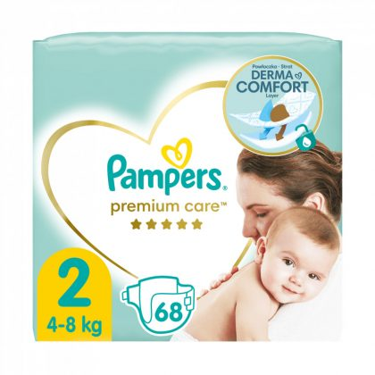 Pampers Premium Care pelenka, Mini 2, 4-8 kg, 68 db