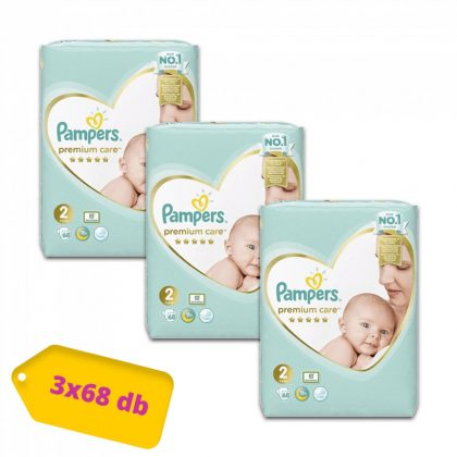 Pampers Premium Care pelenka, Mini 2, 4-8 kg, 2+1, 204 db