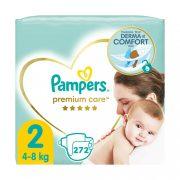 Pampers Premium Care Mini 2, 4-8 kg HAVI PELENKACSOMAG 4x68 db