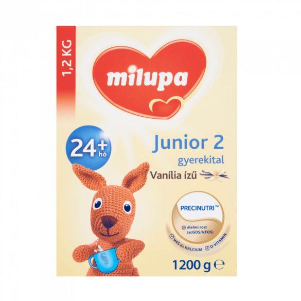 Milupa Junior 2 gyerekital 24 hó+ Vanília ízű 2x1200g + AJÁNDÉK