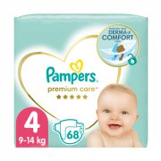Pampers Premium Care pelenka, Maxi 4, 9-14 kg, 68 db