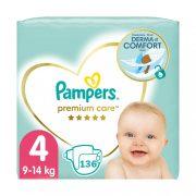 Pampers Premium Care pelenka, Maxi 4, 9-14 kg HAVI PELENKACSOMAG 136 db