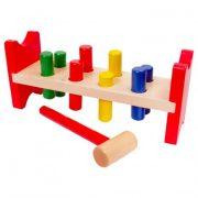 Fa kalapácsos készségfejlesztő játék (nagy méret)