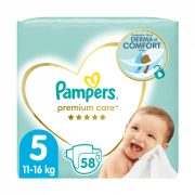 Pampers Premium Care pelenka, Junior 5, 11-16 kg, 58 db