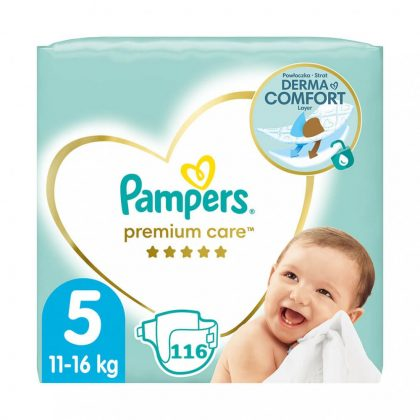 Pampers Premium Care pelenka, Junior 5, 11-16 kg HAVI PELENKACSOMAG 116 db