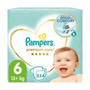 Pampers Premium Care pelenka, Junior 6, 13 kg+, 2+1, 114 db