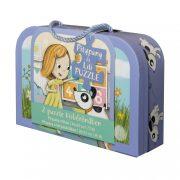 Pitypang és Lili - bőröndös puzzle (2 db puzzle-lel)