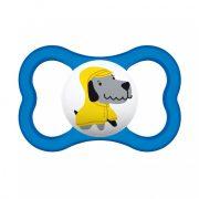 MAM Mini Air szilikon játszócumi 6 hó+ (kék-kutya)