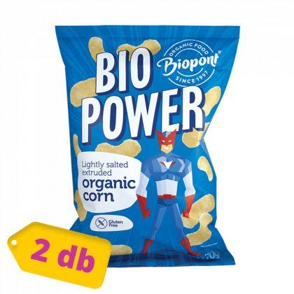 Biopont Bio power kukorica - enyhén sós (2x70 g)