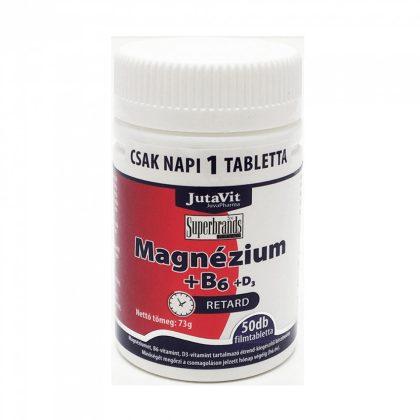 Jutavit Magnézium+B6-vitamin+D3-vitamin filmtabletta (50 db)