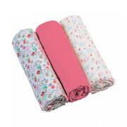 BabyOno textilpelenka - pink (3 db)