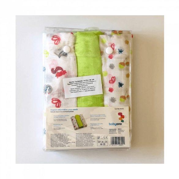 BabyOno textilpelenka - színes (3 db)