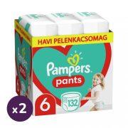 Pampers Pants bugyipelenka, XL 6, 15 kg+, 1+1, 264 db + AJÁNDÉK Pampers Pure kókuszos törlőkendő 2x42 db