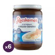 Kecskeméti Jó éjszakát desszert kekszes-banános tejbegríz, 6 hó+ (6x190 g)