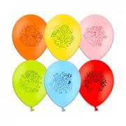 Bogyó és Babóca színes mintás lufik (6 db)
