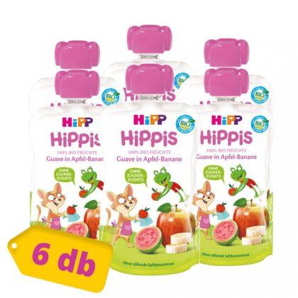 Hipp HiPPiS BIO gyümölcspép guava-banán almában, 12 hó+ (6x100 g)
