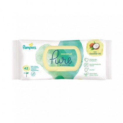 Pampers Pure coconut / kókuszos nedves törlőkendő 42 db