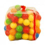 100 darabos műanyag labda zárható hálóban