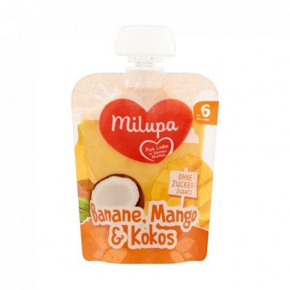 MEGSZŰNT - Milupa banán-mangó-kókusz gyümölcspüré 6 hó+ (90 g)