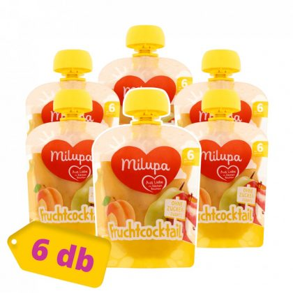 Milupa gyümölcskoktél vegyes gyümölcspüré 6 hó+ (6x90 g)