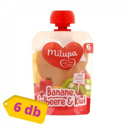 Milupa banán-eper-kiwi gyümölcspüré 6 hó+ (6x90 g)