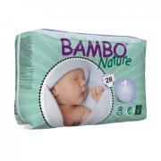 MEGSZŰNT - Bambo Nature öko pelenka, Újszülött 1, 2-4 kg, 28 db