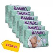 Bambo Nature ökopelenka, Újszülött 1, 2-4 kg HAVI PELENKACSOMAG 6x28 db