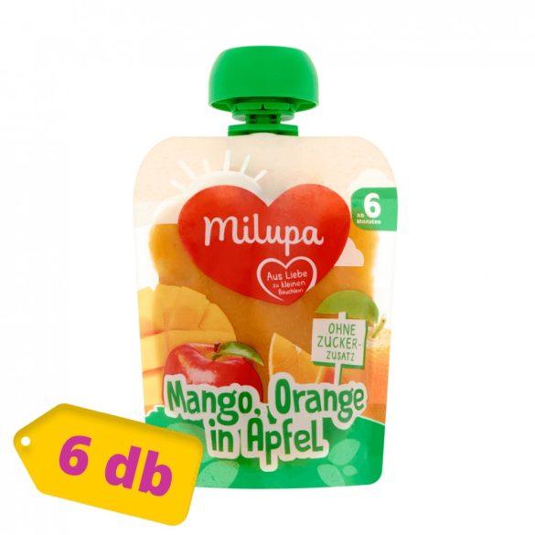 Milupa mangó-narancs-alma gyümölcspüré 6 hó+ (6x90 g)