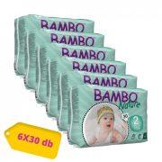 Bambo Nature öko pelenka, Mini 2, 3-6 kg, HAVI PELENKACSOMAG 6x30 db