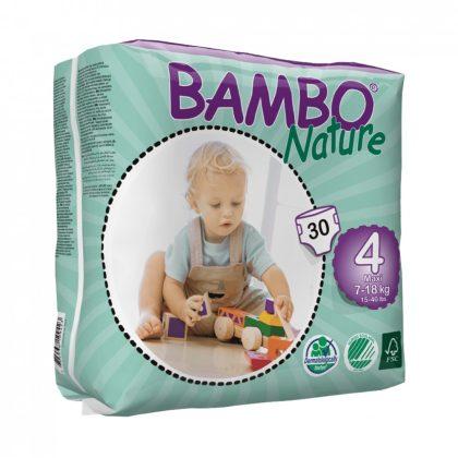 MEGSZŰNT - Bambo Nature öko pelenka, Maxi 4, 7-18 kg, 30 db