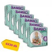 Bambo Nature öko pelenka, Maxi 4, 7-18 kg HAVI PELENKACSOMAG 6x30 db