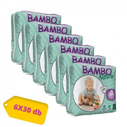 MEGSZŰNT - Bambo Nature öko pelenka, Maxi 4, 7-18 kg, HAVI PELENKACSOMAG 6x30 db