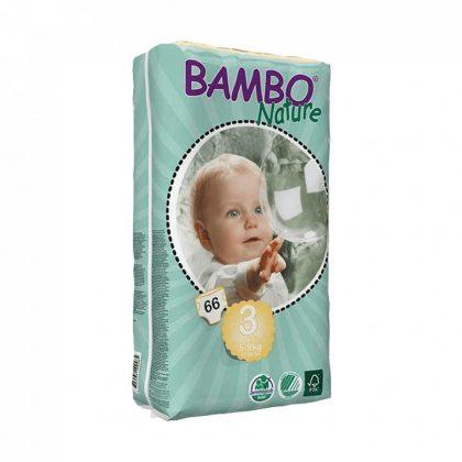 MEGSZŰNT - Bambo Nature öko pelenka, Midi 3, 5-9 kg, 66 db
