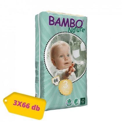 MEGSZŰNT - Bambo Nature öko pelenka, Midi 3, 5-9 kg, HAVI PELENKACSOMAG 3x66 db