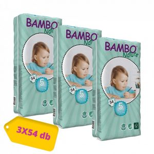 MEGSZŰNT - Bambo Nature öko pelenka, Junior 5, 12-22 kg, HAVI PELENKACSOMAG 3x54 db
