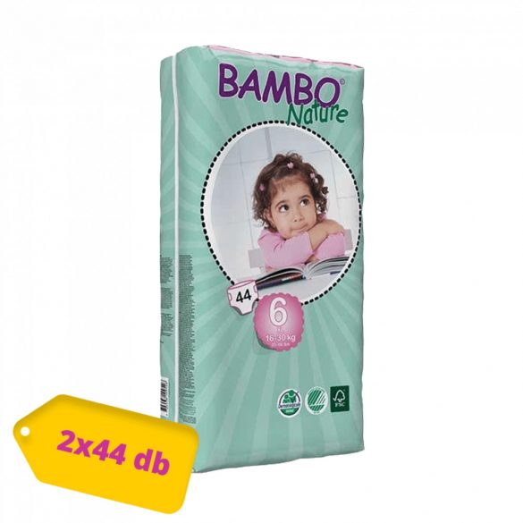 Bambo Nature öko pelenka, XL 6, 16-30 kg PELENKACSOMAG 2x44 db