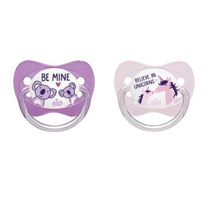 Nip Family latex játszócumi 0-6 hóig 2db maci és pingvin/maci és zsiráf